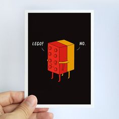 I'll never lego  note card by ilovedoodle on Etsy, $5.00