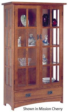 Superbe Palecek Mission Curio And Display Case | Display Case, Hardware And Display