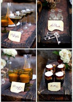 Harry Potter theme--magic wedding drinks