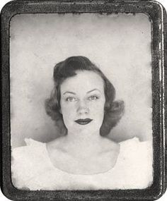 +~Vintage Photo Booth Picture~+  Pretty in White