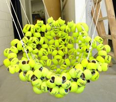 Laura Kishimoto furniture. Made from recycled tennis balls!