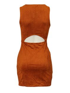 Cognac jurk - Korte jurken - BoBo Tremelo