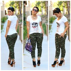 Casual #OOTD Camo Look Today On The Blog