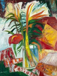 JOHN BELLANY H.R.S.A., R.A., C.B.E. (SCOTTISH B. 1942) STILL LIFE WITH YUCCA PLANT