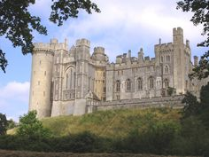Arundel Castle in England. The castle is often said to be one of a Gothic fairy tale. The castle was restored in 1900 by the 16th Duke of Norfolk.  In 1975 the castle was given to a charitable trust for upkeep and restorations.  Most the castle is open to the public.