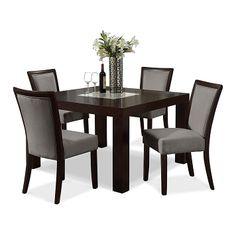 "Karmon Gray Dining Room 5 Pc. Dinette (50\"" Table) | Furniture.com $566.96"