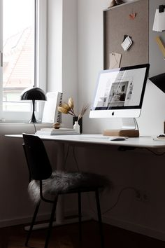 My home office – Creative Home Office Design Studio Interior, Office Interior Design, Office Interiors, Office Organization At Work, Office Ideas, Cubicle Organization, Office Inspo, Cool Office Space, Small Office