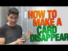How To Make A Card Disappear : Cool Magic Revealed - YouTube