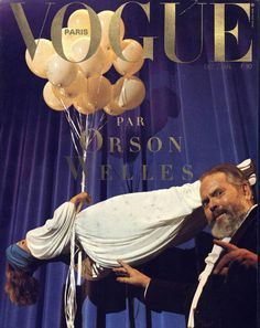 Orson Welles (famous for his skill as a magician) on the cover of Vogue Paris