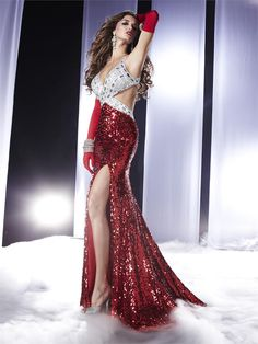 #Panoply 14470 Fully sequined, cut-out prom dress