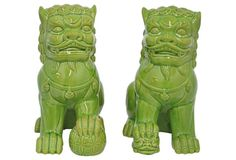 Asst. of 2 Foo Dogs, Green