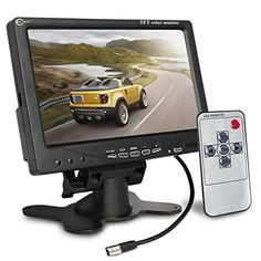 [Upgrade with Image Reverse Function] Esky 7 inch TFT LCD Color 2 Video Input Car Rear View Monitor DVD VCR Monitor With Remote and… #deals