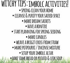 Witchy tips:Imbolc activities