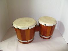 Cool Vintage 50's or 60's Bongo Drums Great by TheInstantMemory