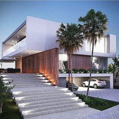 Do you want to build your own dream modern house? These beautiful modern house plans may inspire you! Residential Architecture, Amazing Architecture, Contemporary Architecture, Interior Architecture, Creative Architecture, Minimalist Architecture, Landscape Architecture, Landscape Design, Modern Exterior