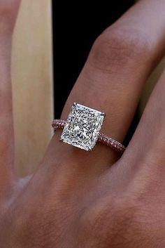 18 Best Rose Gold Engagement Rings For Tender Look ❤️ best rose gold engagement rings princess cut diamond solitaire ❤️ More on the blog: https://ohsoperfectproposal.com/best-rose-gold-engagement-rings/ #engagementrings @rosegoldengagementrings