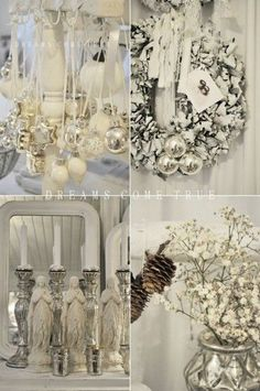 Christmas Decor in Shabby Chic Style christmas ideas