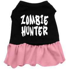 Zombie Hunter Dog Dress - Pink Med -- Check this awesome product by going to the link at the image. (This is an affiliate link) #SmallAnimals