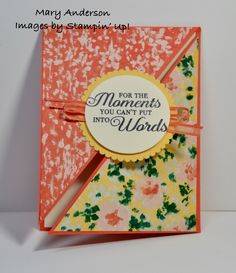 Garden Impressions DSP Sympathy Cards, Stampin Up, Triangle, Words, Cover, Garden, Catalog, Foil Stamping, Garten