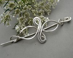 Little Celtic Infinity Loops Sterling Silver Shawl Pin, Scarf Pin, Sweater Brooch - Lace Shawl Pin - Knitting Celtic Accesory
