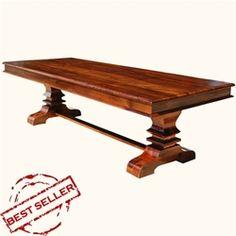 Salvaged Wood Trestle Rectangular Extension Dining Table. Keep as ...