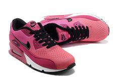newest 5aa8a 34140 Cheap Nike Air Max 90 Womens Engineered Mesh Brink Pink Ultra Pink Ruby  Black White Sneakers Sell at a Discount