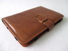 Leather iPad mini case / sleeve, cover, in cognac (fits ipad mini 2 and 1)