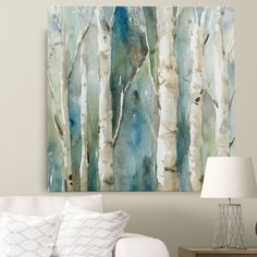 'River Birch I' by Carol Robinson Painting Print on Wrapped Canvas