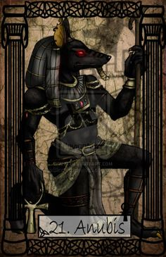 "foamybells: "" Mythology Tarot Anubis by TheBlindProphetess """