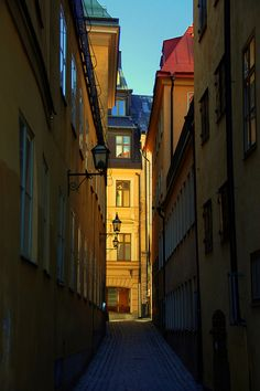 Old Town, Stockholm, Sweden Most Beautiful Cities, Beautiful Streets, City Scene, City Aesthetic, Stockholm Sweden, Oh The Places You'll Go, Old Town, Buildings, Around The Worlds