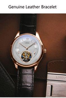 Switzerland Tourbillion Mechanical Watch Mechanical Watch, Switzerland, Mens Fashion, Watches, Leather, Stuff To Buy, Accessories, Moda Masculina, Male Fashion