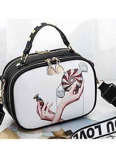 Hot Sale Picture Printed Square Hand Bag