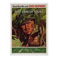 WWII Soldier - Vintage Patriotism Poster