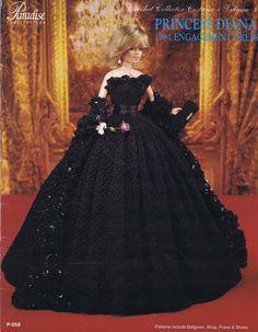 PARADISE CROCHET PATTERN DOLL COSTUME '81 PRINCESS DIANA ENGAGMENT COSTUME DRESS   eBay