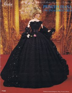 PARADISE CROCHET PATTERN DOLL COSTUME '81 PRINCESS DIANA ENGAGMENT COSTUME DRESS | eBay