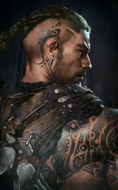 m Barbarian portrait hilvl Dark Avenger 3 work - team couscous Fantasy Male, High Fantasy, Fantasy Warrior, Fantasy Rpg, Medieval Fantasy, Fantasy Team, Character Concept, Character Art, Concept Art