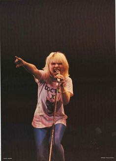 """A fantastic poster of Blondie front-woman Debbie Harry performing live in the 1970's! An original published in 1978. Ships fast. 24x33 inches. Check out the rest of our """"Atomic"""" selection of Blondie p"""