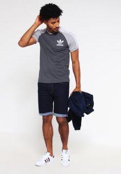 adidas Originals - T-shirts med print - dark grey heather/mottled grey heather