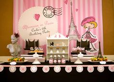Party Feature: Afternoon in Paris Party. Love this cute theme for a little girl's birthday!