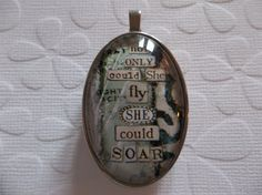 Not Only Could She Fly She Could Soar - Two Sided by Antiqued