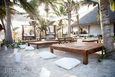 What a beautiful space for celebrating a wedding. Ana y José Beach Club in Tulum, Mexico.