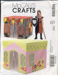 Pattern for Children's Playhouse - Fits Over Standard Card Table McCall's