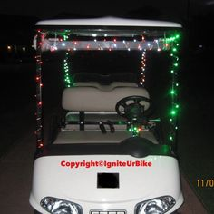 #fun #golfcart #holidays #parade #lights #golf #decorating golf cart for resorts, country clubs, ranches, or hotels for the holidays....