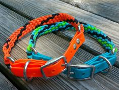 Biothane/Paracord Adjustable Dog Collar by KnotsByK on Etsy