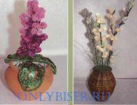 Цветы из пайеток и бисера tutorial