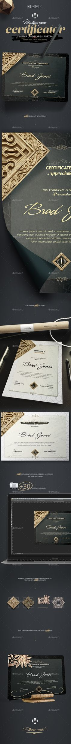"Quickly create a professional looking ""Certificate of Appreciation"" certificate for any company using this template. Easily change the colors to match your unique pleasure."