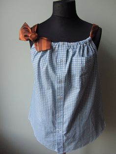 Upcycled Clothing for Women Blue by GarageCoutureClothes