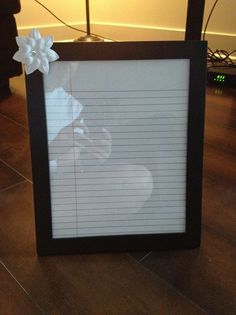 Dry erase made from picture frame. Could use as a to-do list, put motivational phrases, anything!