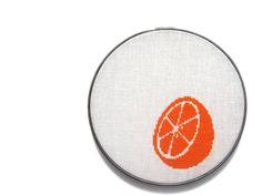 Citrus modern cross stitch. $55.00, via Etsy.