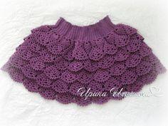 Вязаная юбочка для девочки. Работа Ирины Игошиной вязание и схемы вязания Crochet For Kids, Easy Crochet, Crochet Baby, Crochet Ideas, Baby Dress, Lace Shorts, Beanie, Knitting, Dresses
